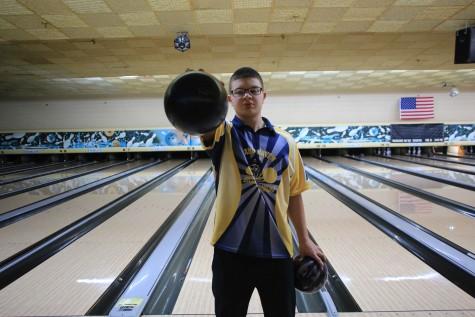 Junior Jimmy Mitchell leads boys bowling team