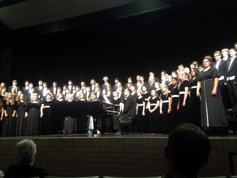 Choir thanks supporters after performance on Oct. 17