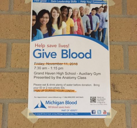 Anatomy class presents blood drive on Nov. 11