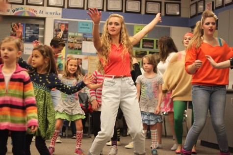 "Kick off your Velcro shoes: ""Footloose"" cast teaches young to dance"