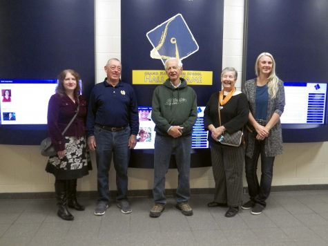 Five of the nine inductees attend the tour on Nov. 6. Family members of the member who passed away came to the event as well.