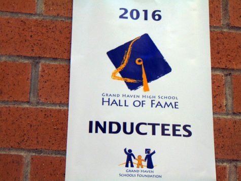 Nine Grand Haven alumni and community members were inducted into the hall of fame on Nov. 6. The morning of the ceremony, Assistant Superintendent Scott Grimes gave the inductees and their families a tour of the high school.