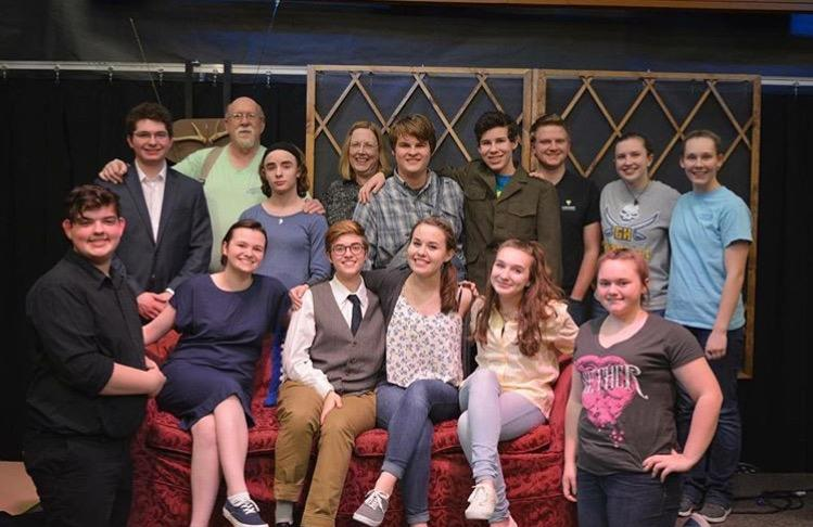 The cast and crew of The Foreigner performed in the new Buccaneer Little Theater with leads Erik Livingston and Bobby Fisher
