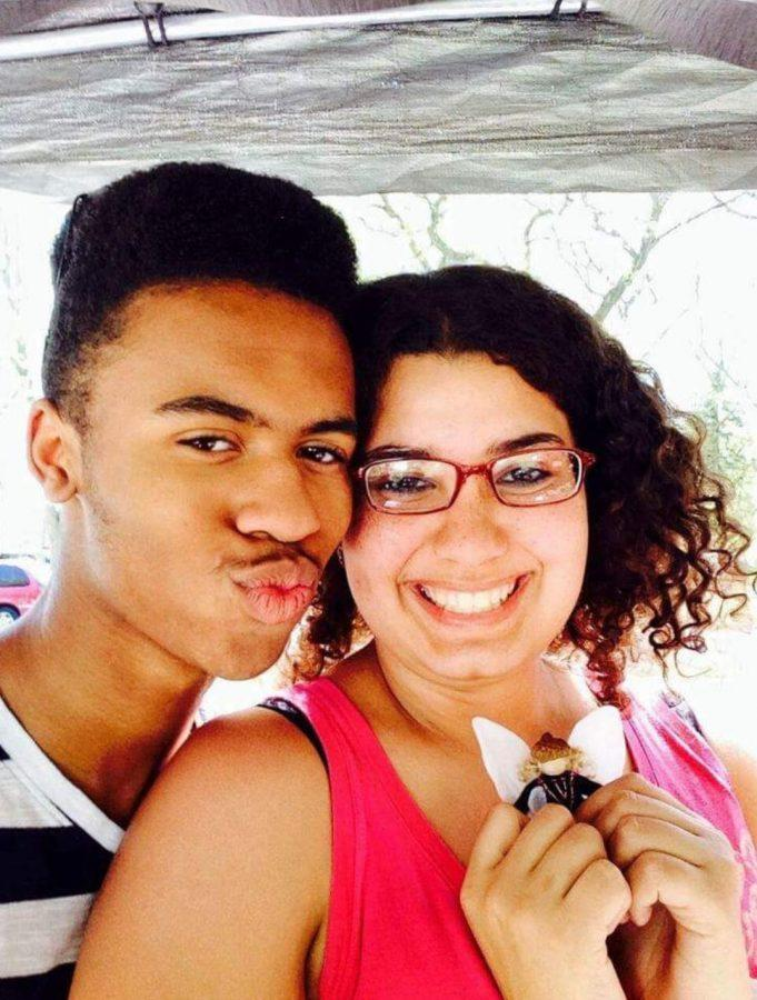 "GIVING UP GABBY: Senior AJ Melton snaps a selfie with his friend Gabby.  Gabby died by suicide in 2015. ""Not having her here feels like there's a missing piece of my heart,"" Melton said."
