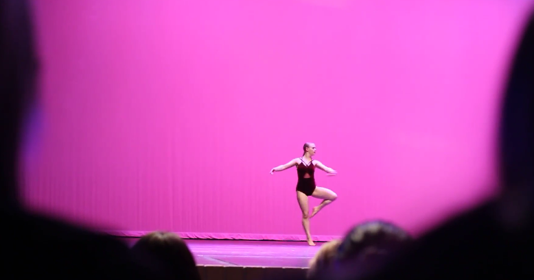 Sowles preforms during her part in the talent show showing her moves.