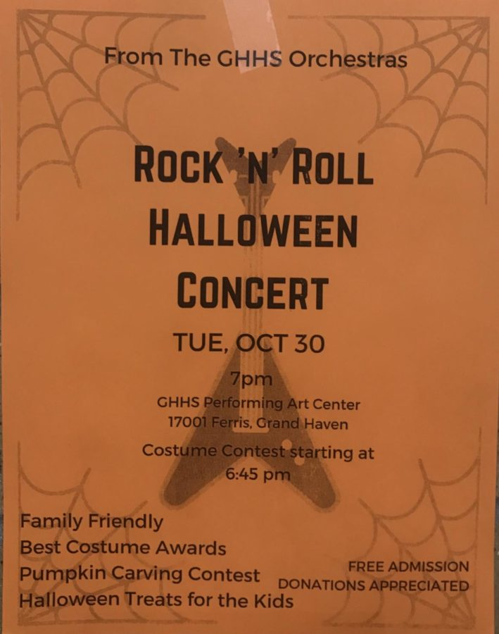 Orchestra holds Halloween concert