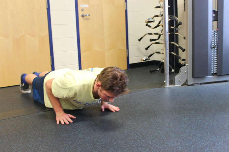 Step four: Perform one push-up.