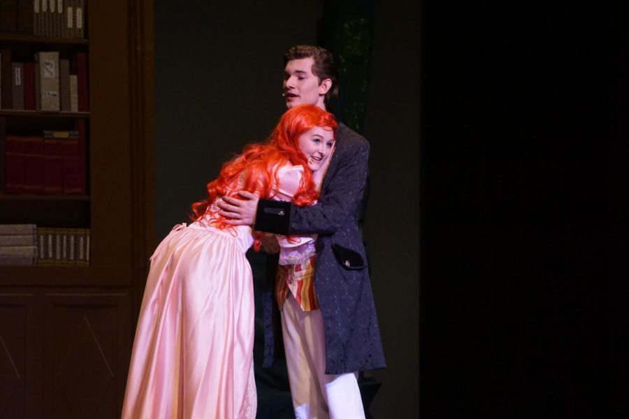 Ariel+%28Anna+Bremmer%29+and+Prince+Eric+%28Quinn+Remington%29+during+a+rehearsal+for+the+Little+Mermaid+Musical+