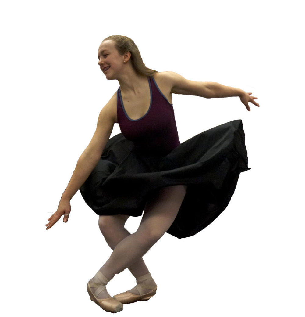 Hodge settles to the ground. She has been dancing since the age of four and hopes to become a professional Ballerina in the future. Her family supports her driving her to her many rehearsals and classes but for them its all worth it when they see her dance.
