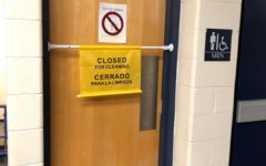Administration closes boys' restrooms after vandalism