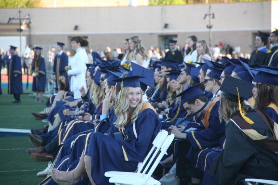 Receiving diplomas