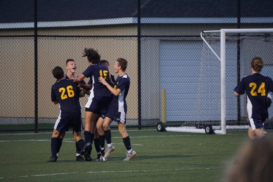 Boys varsity soccer team beats Spring Lake