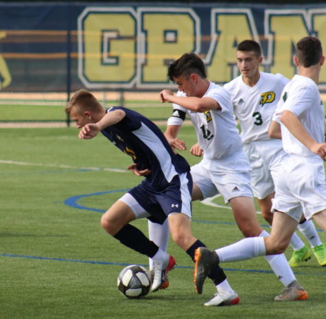 Boys soccer falls to Midland Dow on senior night