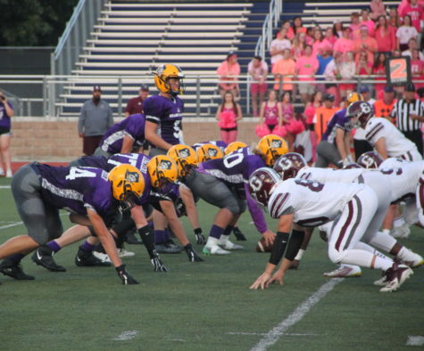 Varsity football falls to Grandville in annual purple game