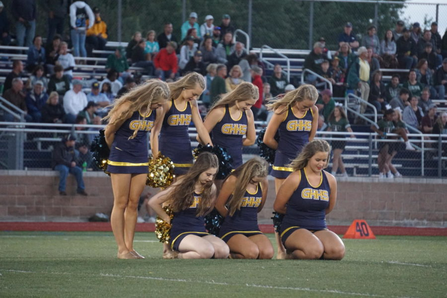 The GHHS Dance Team begins their performance on Friday, August 29th at halftime of the football game.
