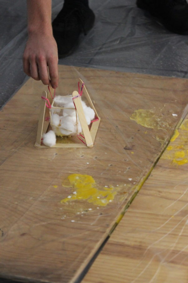 Egg drop lab excites physics students