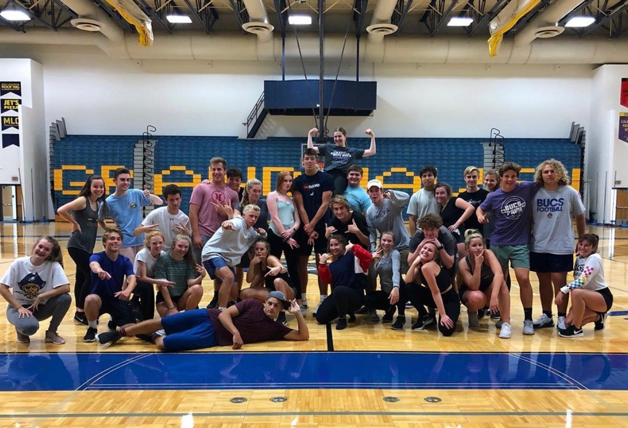 The dance team has been working very hard and will be performing at the pep assembly on Friday. (Photo courtesy of Morgan Harrison)