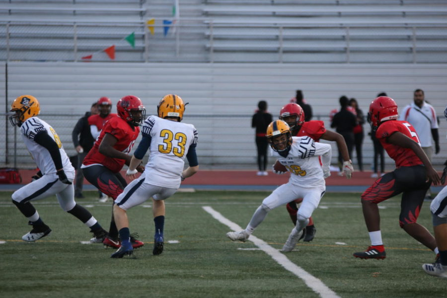 Junior LJ Sandoval uses quick foot work to get around Unions defense.