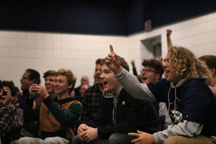 Seniors Will McWatters and Teague Wilson faces openly reveals their surprise yet overjoyed emotions learning that the football team be moving on to playoffs.