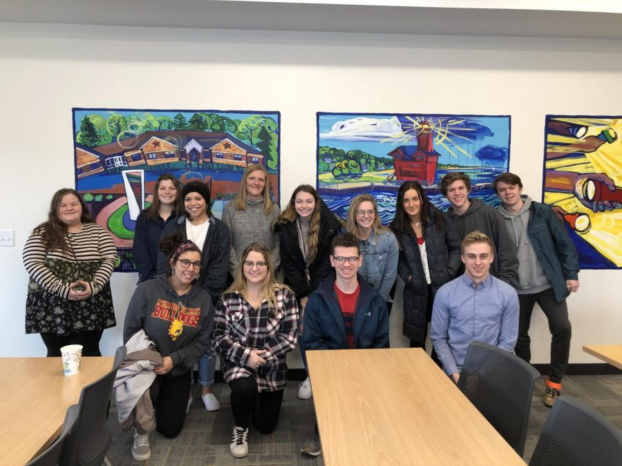 Students part of pay it forward toured the Children's Advocacy Center in Holland and were able to learn the work of the center. (Photo courtesy of Brian Williams)
