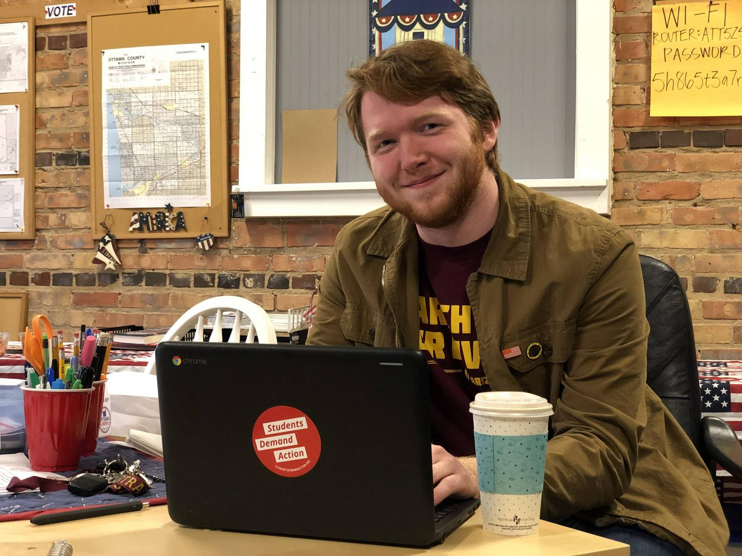 """As senior Jackson Schulte sips his latte, he muses about coordinating activist efforts. """"What really pisses me off is social media activism,"""" Schulte said. """"When people see something on Instagram, so they decide to share it on their story to plant a tree, that makes me angry. You sitting on your butt is not the extent to which you should be involved, that's not going to make a difference or help anyone."""""""