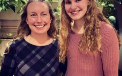 Senior Kathryn Ackerman was honored as a January student of the month alongside teacher Tracy Lakatos
