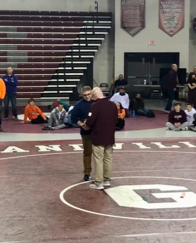 Coach Jeremey Wiebenga has been named regional wrestling coach of the year. (Photo courtesy of Jeremy Wiebenga)