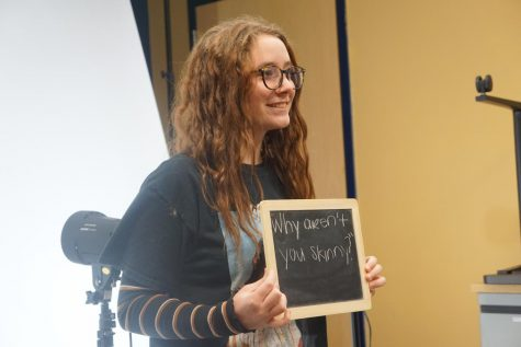 "Sophomore Grace Compagner poses for her photo. ""I would hope this would have people realize that we have way more impact on others than you would think,"" senior Kammi Jarvis said."