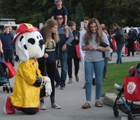 NHS is responsible for volunteering at many events, such as fire prevention night