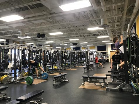 FITNESS CENTER: Students using the weight room after school.