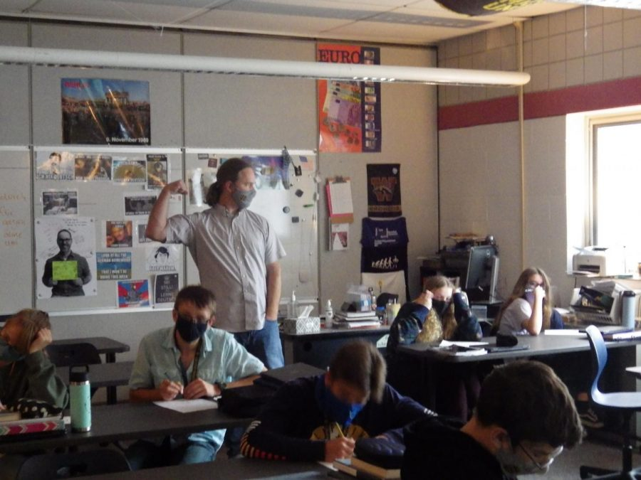 German teacher Rory Callandar teaches five German classes