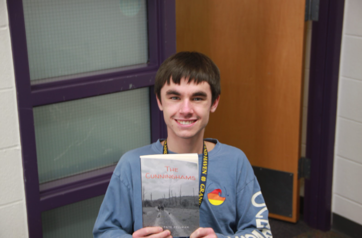 Junior Tate Zellman released his second novel,
