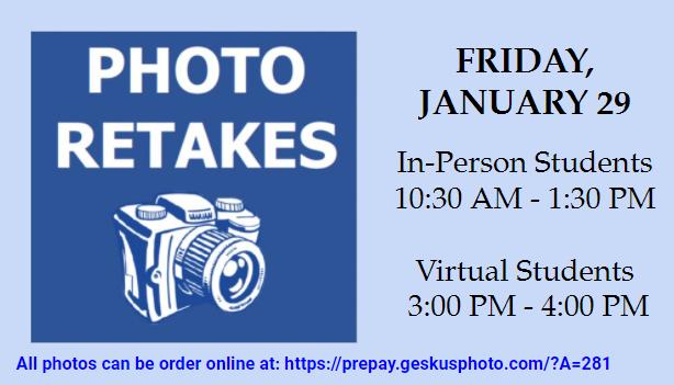 Photo Retakes to take place
