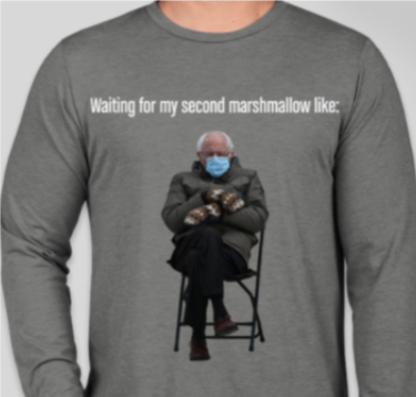 AP Psychology uses Bernie Sanders meme as class shirt design