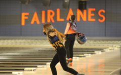 WINDING UP: Lexi Thompson takes the ball back in her stance in her competition at Fairlanes alley.