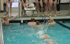 Boys swim beats East Kentwood on senior night