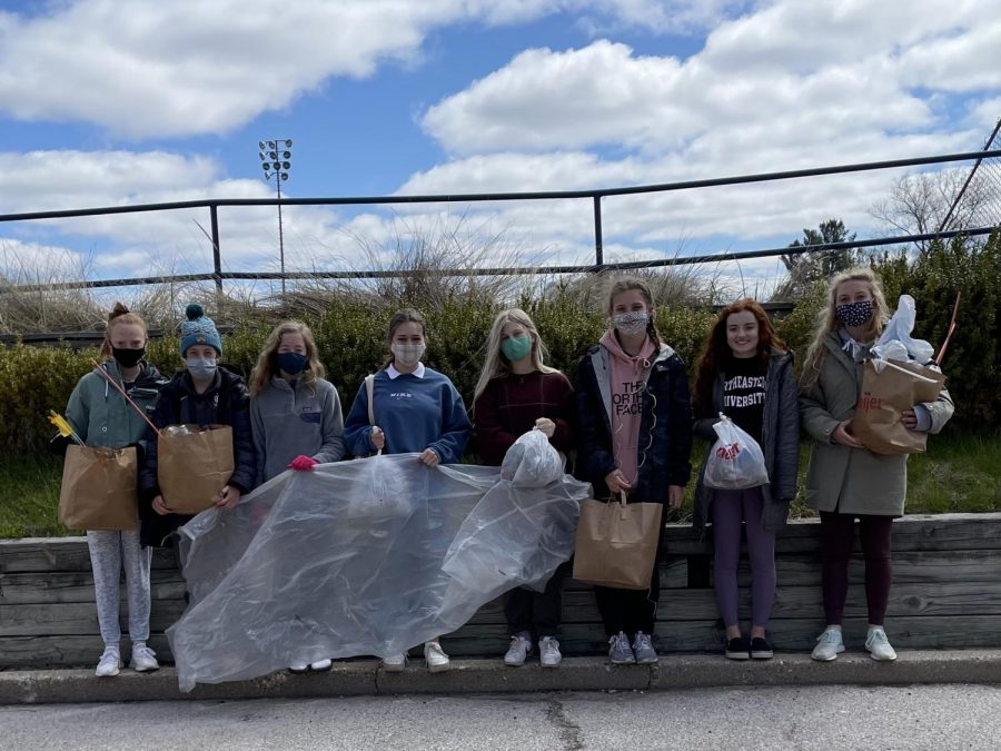LAKESHORE CLEANUP: The Green Club has had trash collections take place at Lakeshore Middle School, Rosy Mound Nature Park, and the Coast Guard Station