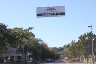 Hispanic Heritage Banner hangs over Washington St.