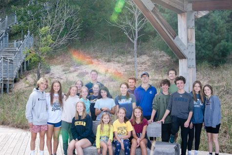 G.R.E.E.N. Club gets together at the end of a beach clean up on Sept. 18 for a group photo.