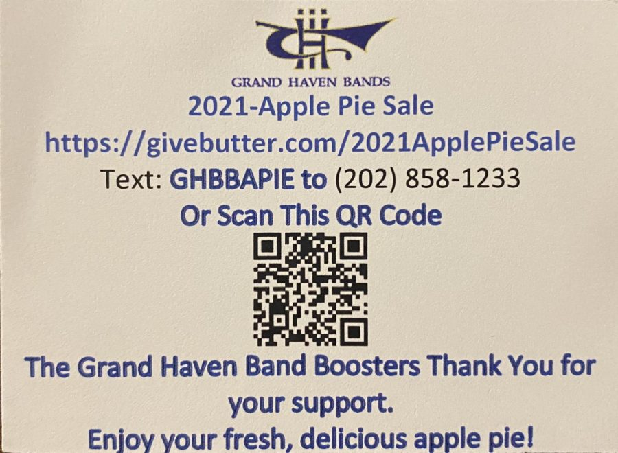 Support your peers in band by purchasing apple pies.