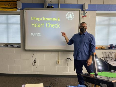 Teacher Nelson presents his lesson.